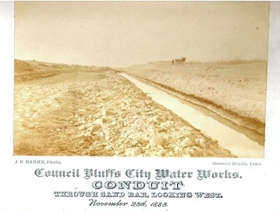 Council Bluffs Water Works Conduit, 1883