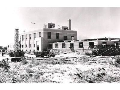 Water works plant under construction